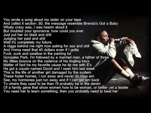 Kendrick Lamar - Sing About Me (HD Lyrics)