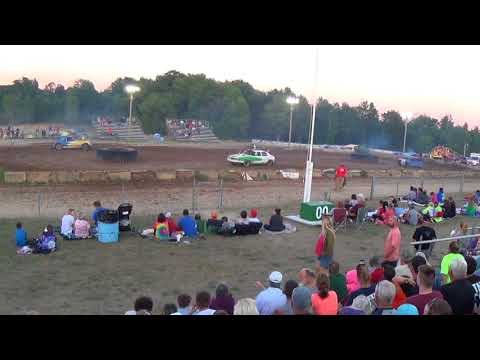 Farwell,Michigan 4th of July celebration 2018 USA figure eight (RWD cars) Second chance