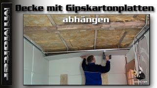 decke mit gipskartonplatten abh ngen anleitung von m1molter videos de decke clips de decke. Black Bedroom Furniture Sets. Home Design Ideas