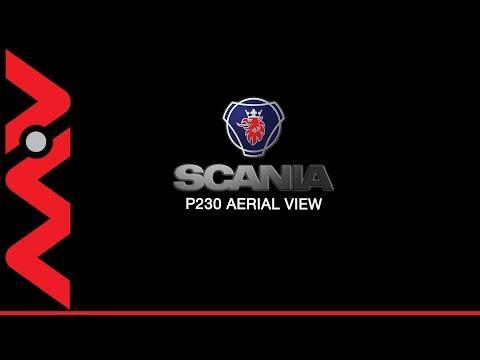 PK60JFJ Scania P230 28ft Curtain Aerial 360 View