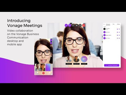Vonage Meetings Video Collaboration