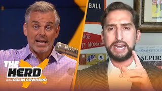 Nick Wright on LeBron's Lakers over Rockets, Giannis' deal with Bucks & Dak's MVP chances | THE HERD