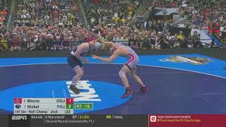 NCAA 2019 Wrestling Finals 197 lbs Bo Nickal vs Kollin Moore