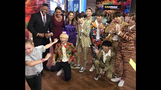 BTS reaction to the little GIRL & HUG Jimin on GMA