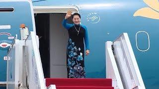 Chủ tịch Quốc hội Nguyễn Thị Kim Ngân tới Giang Tô, bắt đầu thăm chính thức Trung Quốc