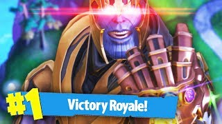 WINNING AS THANOS | Fortnite Battle Royale (Thanos Mode)