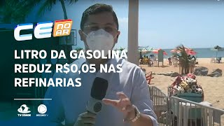 Litro da gasolina reduz R$0,05 nas refinarias