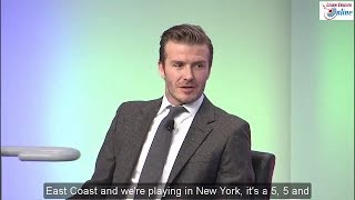 Learn English with Football Star David Beckham Talk Show - English Subtitles