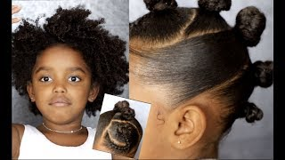 Bantu Mohawk Tutorial for Curly Hair Kids | Yoshidoll