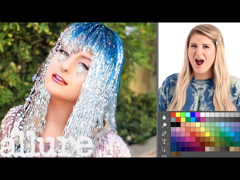 Meghan Trainor Photoshops Herself Into 5 Different Looks | Allure