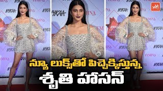 Shruthi Hassan looks stunning at Nykaa Femina Beauty award..