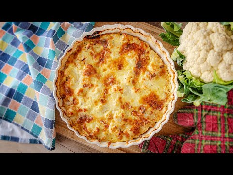 ЛЕНИВЫЙ КИШ / ФРИТАТА / ЗАПЕКАНКА c цветной капустой и сыром | простой рецепт