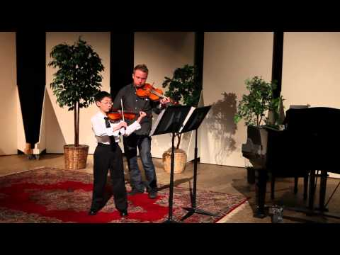 Bach Double Violin Concerto 1st Movement performed with a young violin student.