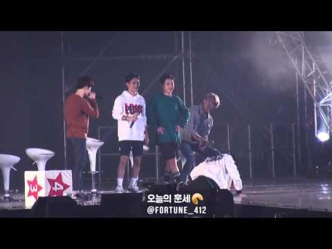 151010 EXO-Love Concert - 경수, 레이, 민석이의 엑소엘을 사랑하는 만큼 몸으로 표현하기♡