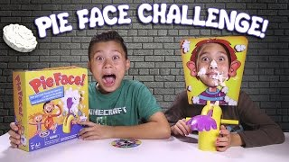 PIE FACE CHALLENGE!!! Messy Whipped Cream in the FACE Game!