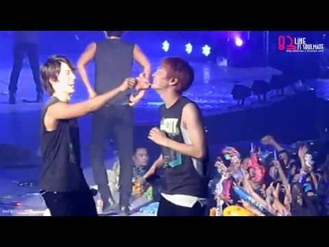 [HD] 110116 Yesung & Leeteuk kissing @ SS3 in BKK