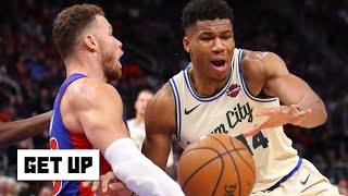 Giannis Antetokounmpo and Blake Griffin go at it … Jay Williams reacts | Get Up