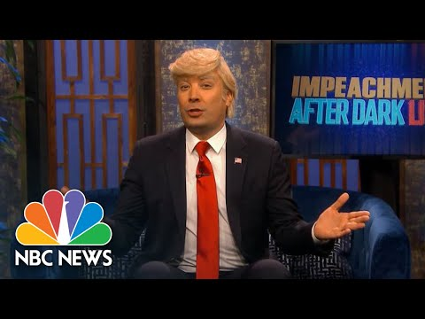 Watch Late Night Hosts Recap First Public Impeachment Hearings | NBC News