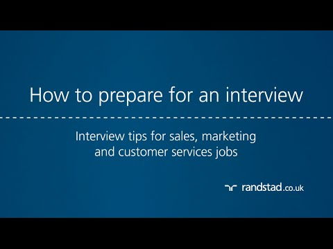 How to prepare for an interview: Interview tips for sales, marketing and customer services jobs