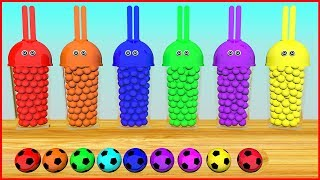 Learn Colors with Pacman and Bunny Mold | #h- Soccer Balls Xylophone Surprise Toys for Kids