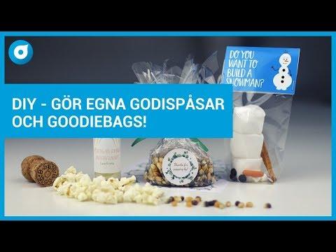DIY - Gör egna Godispåsar och Goodiebags - kalas - fest - bröllop!