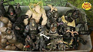 GIANT BOX KING KONG SKULL ISLAND TOYS!! New 50 Gallon Box Surprise Toys  Rampage Movie & Kong