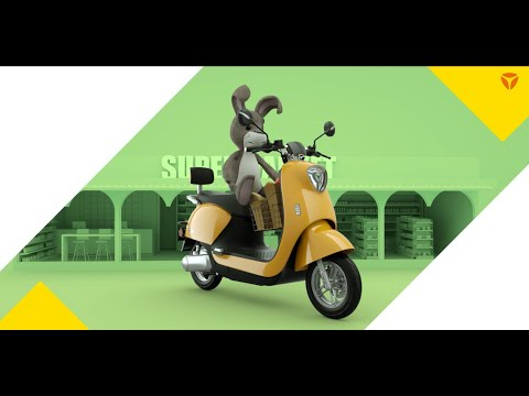 YADEA M6 | 100% Electric | Eco-friendly | 20wh/km | Green energy | The most charming e-moped M6