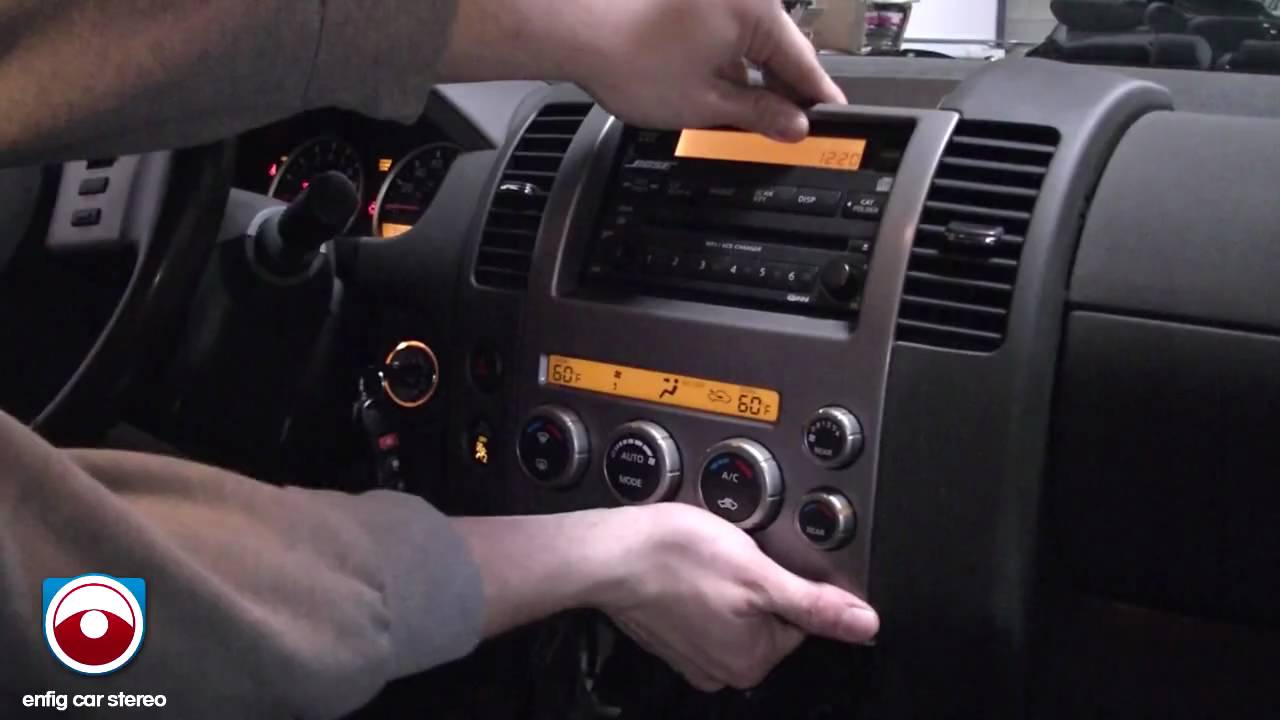 2005 Nissan Pathfinder Radio Removal Youtube