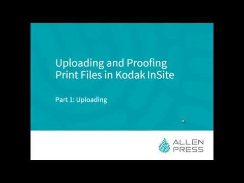 Uploading and Proofing Print Files in Kodak InSite | Part 1: Uploading