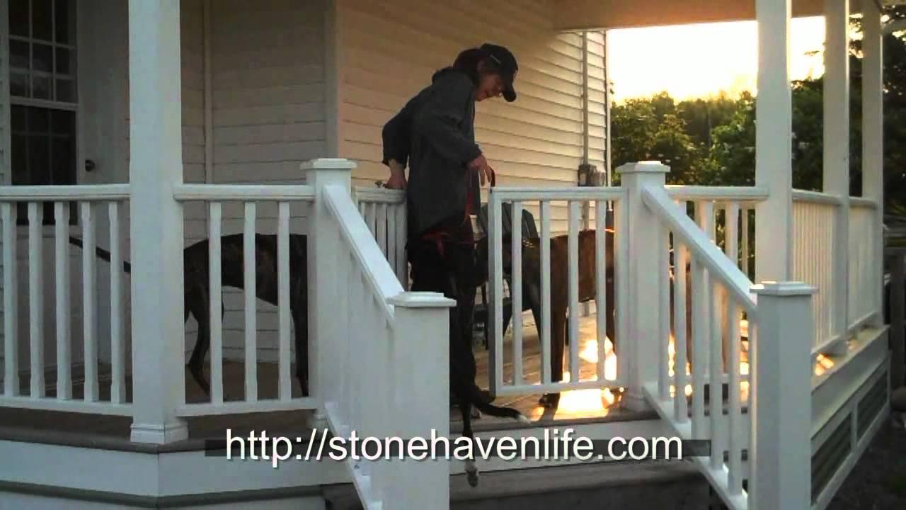 Diy No Sag Deck Gates For Pets Youtube