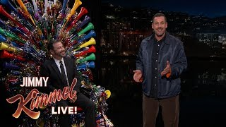 Adam Sandler Surprises Jimmy Kimmel on His 50th Birthday