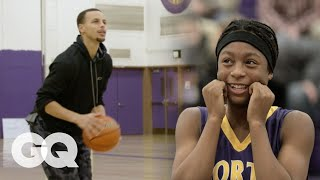 Steph Curry Plays HORSE with Unsuspecting High Schoolers   GQ