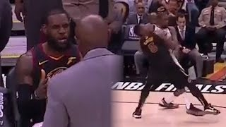 LeBron James LOSES IT In Huddle While JR Smith Tries To TAKE OUT Kevin Durant!   2018 NBA Finals