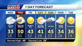 Video: Snow, sleet moves in for Wednesday night