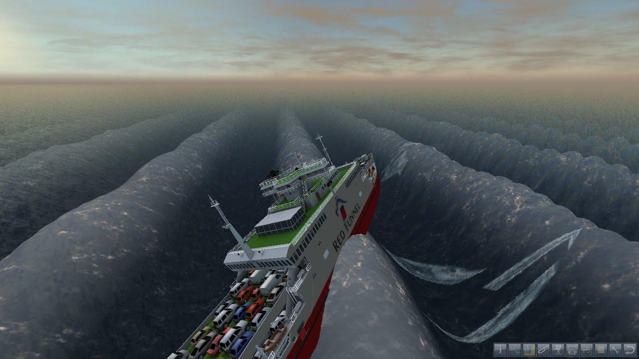 Ship Simulator 2008 high waves NEW - YouTube