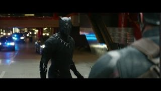 Captain America: Civil War- Black Panther Chase Scene [HD Scene]