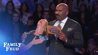 The Sass family takes another swing at Fast Money! | Family Feud