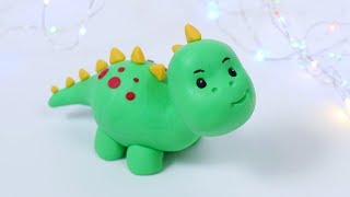 How To Make Fondant Dinosaur! Easy cake topper step by step, for beginners