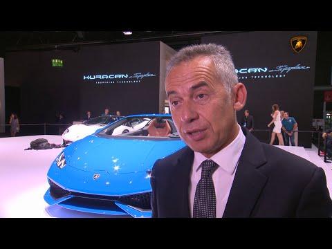 Huracán Spyder: Maurizio Reggiani at IAA 2015
