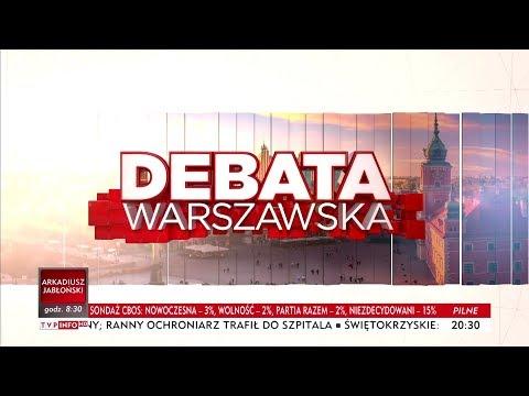 #DebataWarszawska w TVP Info 12.10.2018
