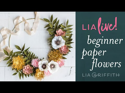 3 Paper Flowers for Beginners