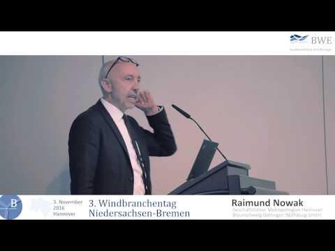 3. Windbranchentag Niedersachsen-Bremen - Raimund Nowak - Erneuerbare Energien und E-Fahrzeuge