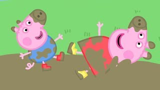 Peppa Pig English Episodes in 4K | Peppa's Muddy Puddle Compilation! | #114