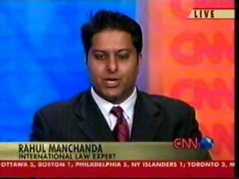 Rahul Manchanda on CNN (Saddam Hussein Trial) - Part 1