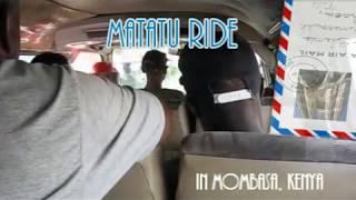 Matatu Ride In Mombasa, Kenya