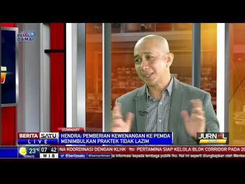 Direktur Eksekutif  APBI, Hendra  Sinadia  di Berita  Satu TV, Dialog: Jual Beli Batubara Diawasi KPK #3