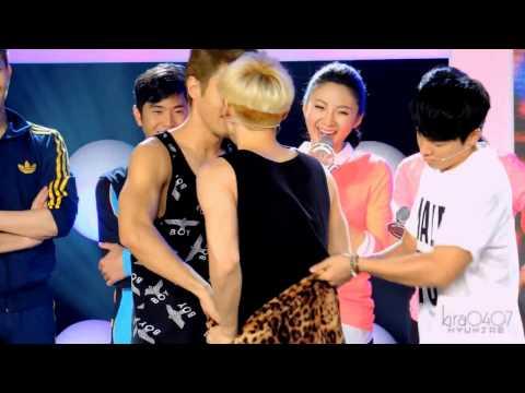 Donghae makes a discovery: Eunhyuk's butt - EunHae