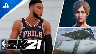 NBA 2K21 My Career Gameplay Features New Concept - MyCareer / MyPlayer Builder (PS5 Leaked Gameplay)