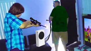 kid shoots dad after he takes PS5..