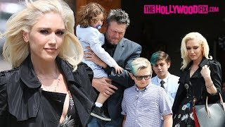 Gwen Stefani & Blake Shelton Celebrate Easter Sunday Together At Church With The Kids 4.1.18